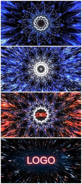 震撼光效展示logo视频模板