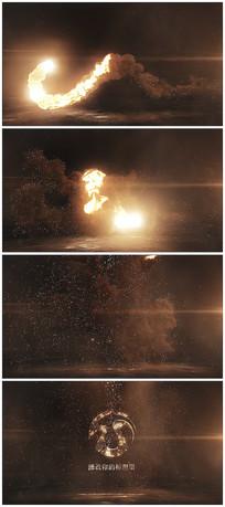 震撼火焰烟雾爆炸logo视频模板