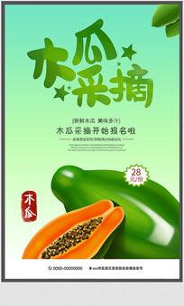 木瓜采摘宣传海报