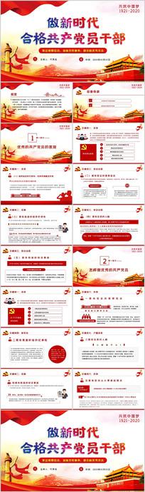 做新时代合格优秀共产党员党课学习教育PPT