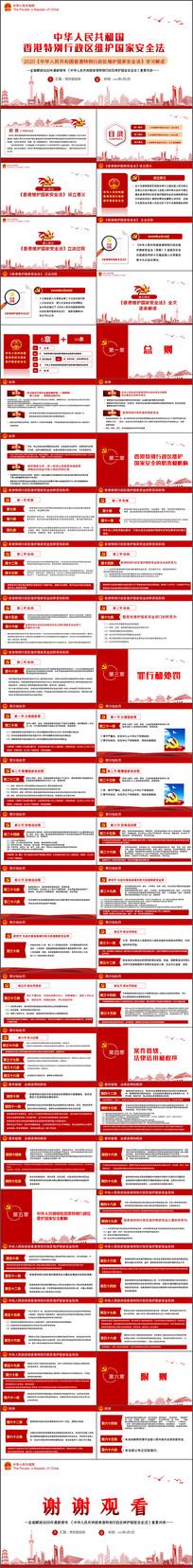 2020年香港特别行政区维护国家安全法PPT