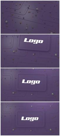 3D震撼大气简约logo演绎模板
