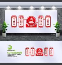 红色大气廉政文化墙设计