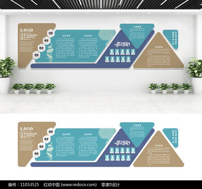 简洁企业文化墙图片