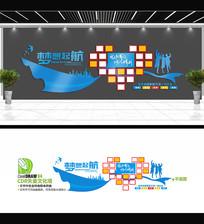 梦想起航企业文化照片墙设计