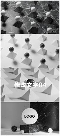 现代简约黑白logo演绎模板