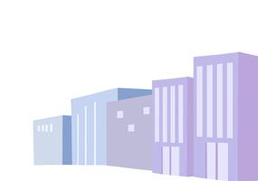 原创手绘简约城市卡通背景素材PSD