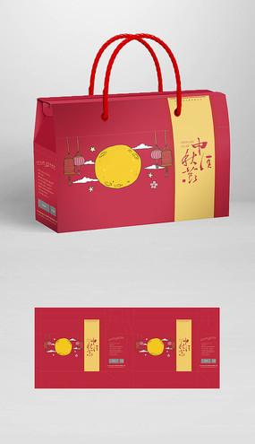 中秋节国潮礼盒包装平面图