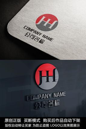 H字母logo标志H字母商标