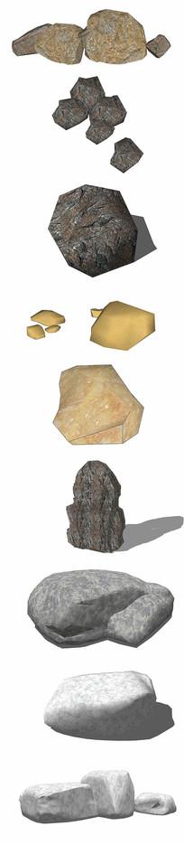 景观石su模型