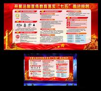 七五普法宣传展板设计