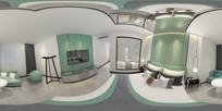 现代房 全景卧室 3D模型