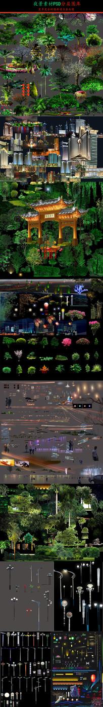 夜景素材SU模型