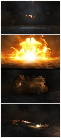 震撼烟雾爆炸出logo片头视频模板
