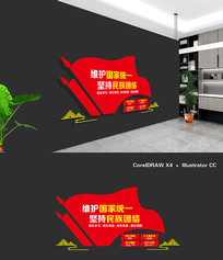 社区民族团结文化墙设计