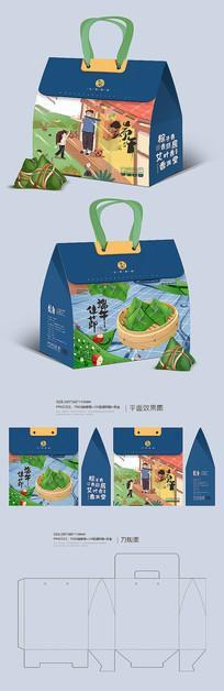 原创端午粽子礼盒包装设计