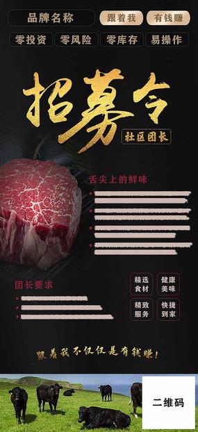 招募令产品介绍招聘PSD分层海报