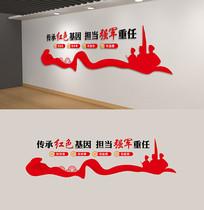中国梦强军梦军人部队文化墙