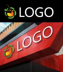 彩果水果汁logo设计