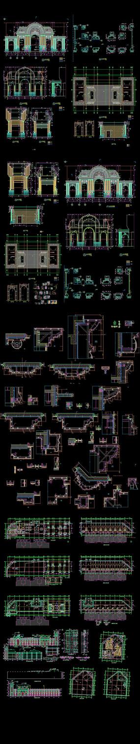 法式售楼部建筑施工图