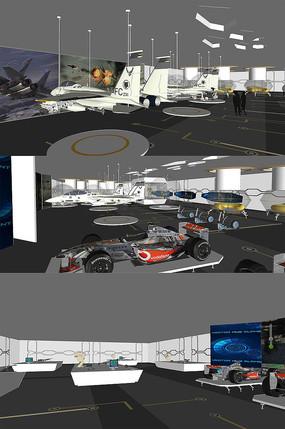 科技VR体验展厅模型