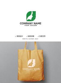 美容女性绿叶健康造型logo
