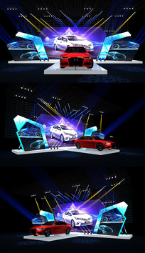 新车发布会3DMAX模型 效果图