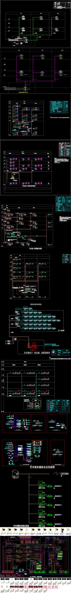 艺术馆弱电图纸20种智能化系统