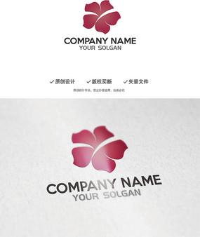 艺术花瓣Y字母造型设计企业标志