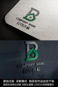 B字母logo标志商标设计