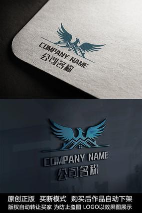 大气房地产logo标志商标设计