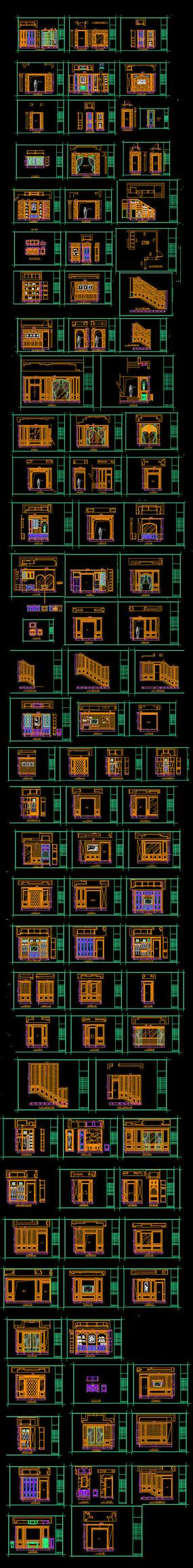 CAD整木护墙图纸
