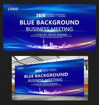 大气商业蓝色科技背景板