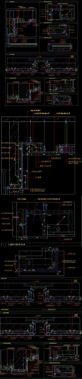 工裝電梯間節點CAD圖紙