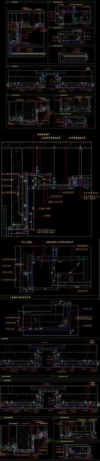 工装电梯间节点CAD图纸