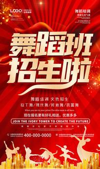 红色大气舞蹈海报