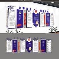 警察文化立体墙设计