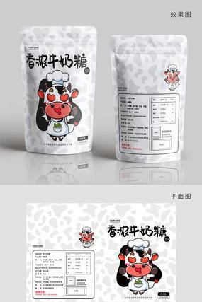 卡通牛奶糖包装