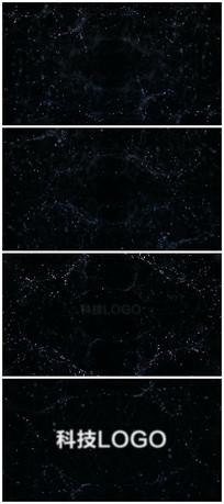 科技穿梭粒子logo视频模板