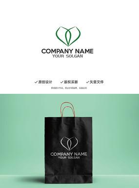 美容绿叶健康体态Y字母造型logo