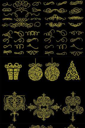 欧式花纹花边CAD雕花图库