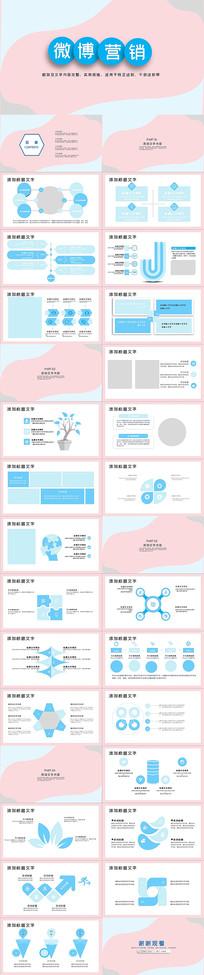 微博营销市场营销PPT模板