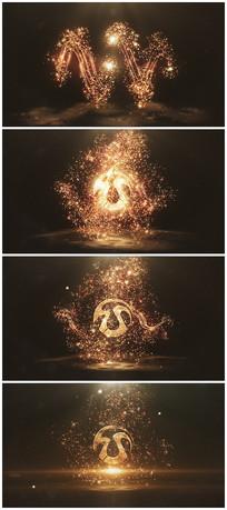 唯美粒子爆炸出logo视频模板