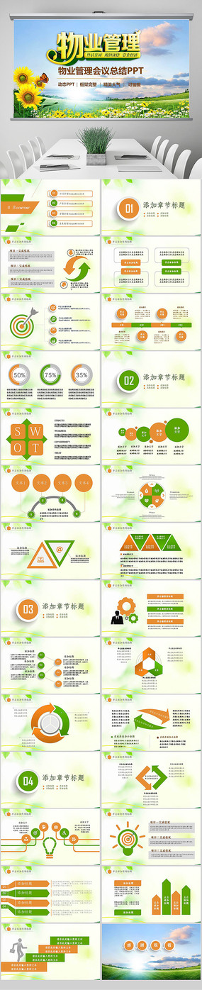 物业公司简介物业管理工作报告PPT