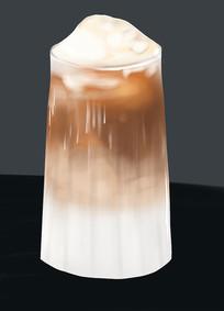 原创手绘插画饮料奶茶元素