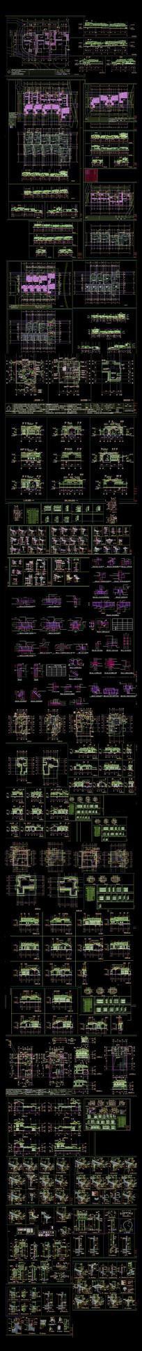 中式民居建筑CAD施工图