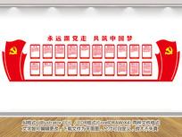 党的发展历程文化墙设计