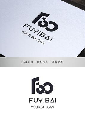 服務百分百商務logo標志設計
