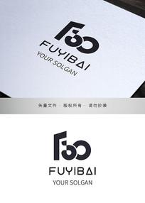 服务百分百商务logo标志设计