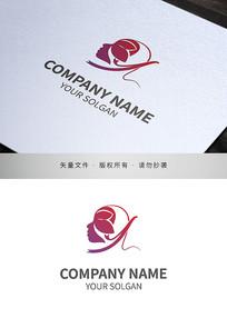 花瓣女性造型美容医美行业标志设计